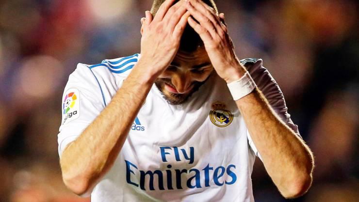 Zum Haareraufen: Real Madrid (im Bild Karim Benzema) lässt gegen Levante weitere Punkte liegen