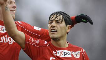 Thuns Ifet Taljevic feiert seinen Treffer zum 1:0