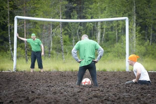 Die Schlammfussball WM fand 2012 in Finnland statt.
