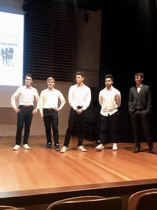 Die Crew von H2Orbit: v.r.n.l. Felix Kunz, Shayan Acikgoez, Janic Moser, Florian Vogt, Jonas Affolter
