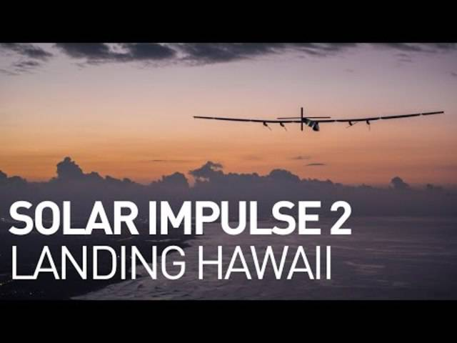 Vorerst das ende der Reise: Die Solar Impulse landet in Hawaii.