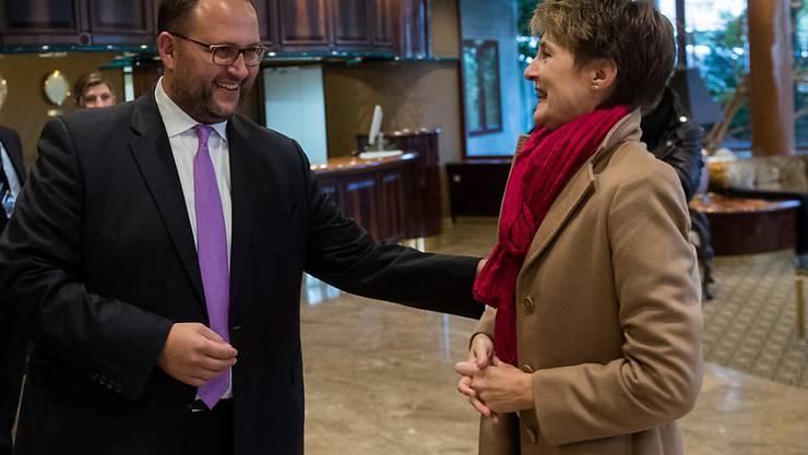 Justizministerin Sommaruga nutzte die Interpol-Konferenz in Lugano dazu, um mehr Zusammenarbeit zwischen den Ländern bei der Bekämpfung des Menschenhandels einzufordern.