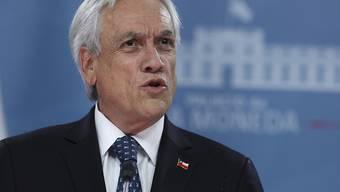 """""""Misshandlungen und Verbrechen wurden begangen"""": Chiles Präsident Sebastián Piñera äusserte sich am Sonntag in einer Rede zur Polizeigewalt gegenüber Demonstranten im Land."""