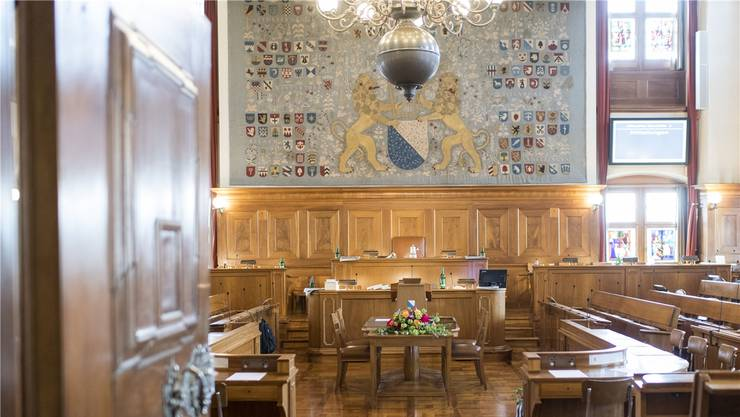 Blick in den Kantonsratssaal im Zürcher Rathaus.