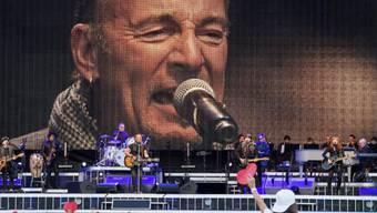 Bruce Springsteen am Samstag auf dem Circus Maximus in Rom.