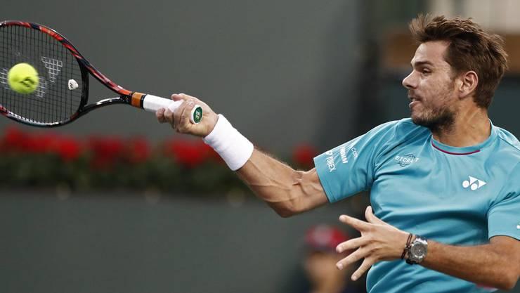 Wawrinka spielt in der zweiten Runde gegen den Italiener Paolo Lorenzi spielen. Der Schweizer gewinnt mit 6:3 und 6:4.