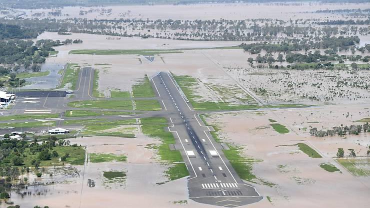 Der Wirbelsturm Debby hat auch zu Überschwemmungen beim Flughafen Rockhampton im australischen Queensland geführt.