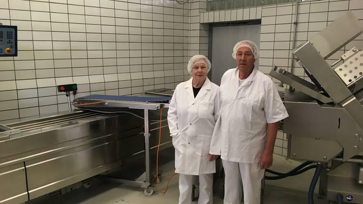 Käthy und Erwin Jenny in den ehemaligen Geschäftsräumlichkeiten.
