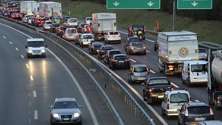 Die Unterstützung für den Nationalstrassen- und Agglomerationsverkehrs-Fonds (NAF), über den am 12. Februar abgestimmt wird, ist gross. (Symbolbild)
