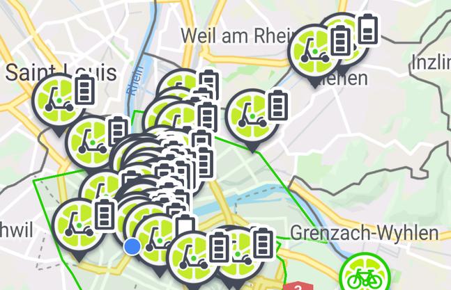 Rund 50 E-Tretroller befinden sich derzeit in Basel. Weitere werden folgen.