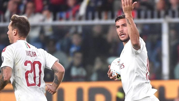 Rodriguez-Konkurrent Theo Hernandez erzielt gegen Genoa sein erstes Tor für Milan