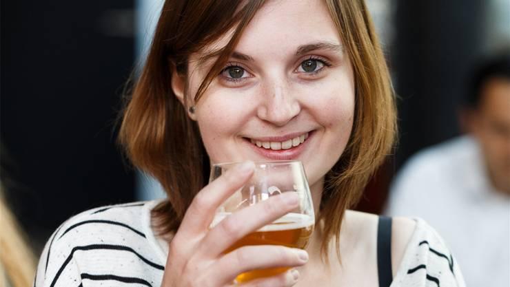 Sophia Wagner von der Lägerebräu braute das erste Frauenbier.