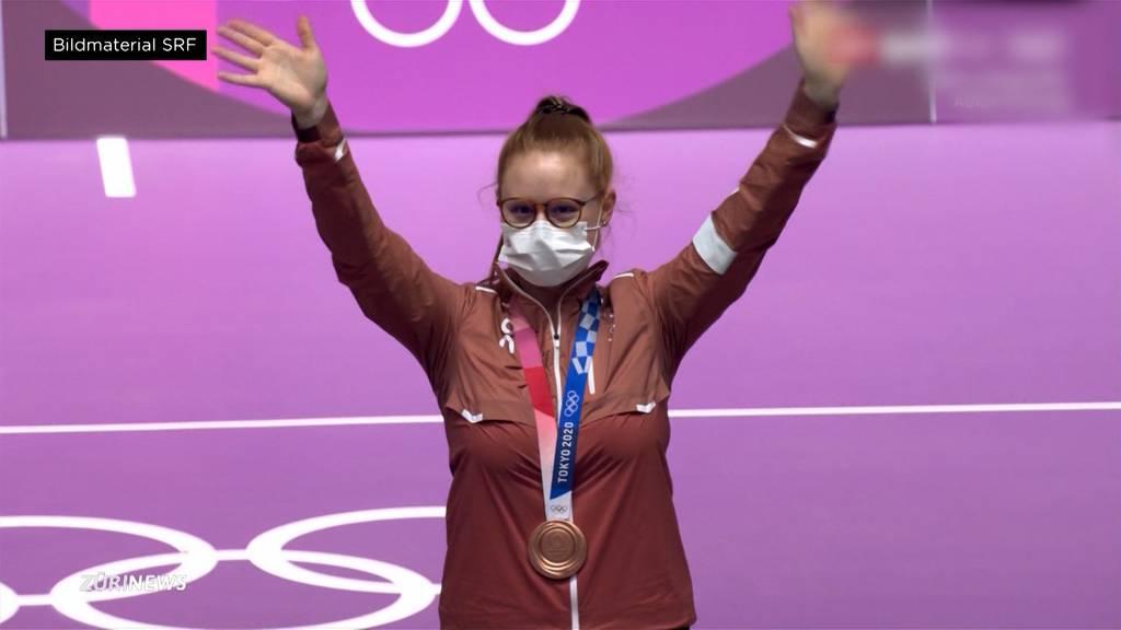 Erste Olympia-Medaille für die Schweiz: Schützin Nina Christen holt Bronze