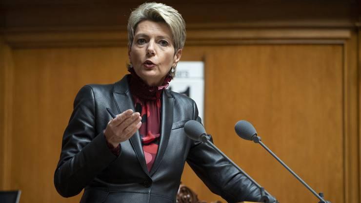 Justizministerin Karin Keller-Sutter.