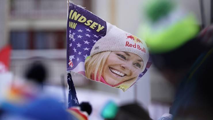 Die Fans verabschieden Lindsey Vonn gebührend.