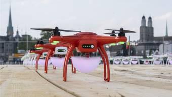 Die Flotte der Drohnen: 150 Stück werden viermal am Züri-Fäscht am Nachthimmel dreidimensionale Bilder zeichnen.