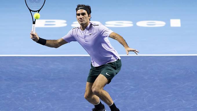 Roger Federer hat in der Basler St. Jakobsarena schon neun Mal die Swiss Indoors gewonnen. Jetzt soll die Halle nach dem einheimischen Weltstar benannt werden. Erreicht werden soll dies mit einer Volksinitiative.(KEYSTONE/Georgios Kefalas)