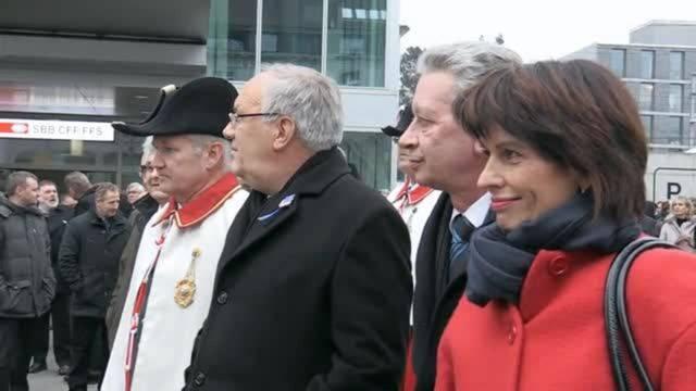 Grosser Empfang in der Heimat: Bundespräsidentin Doris Leuthard in Aarau und Merenschwand.