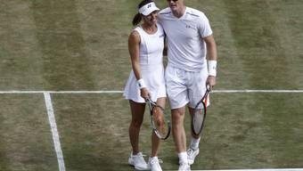 Martina Hingis und Jamie Murray stehen in Wimbledon ohne Satzverlust im Mixed-Halbfinal