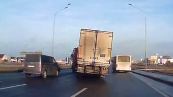 Phu, dafür hat der Lastwagenfahrer allen Respekt verdient ...