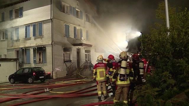 Brand in Villmergen brachte 6 Personen ins Spital