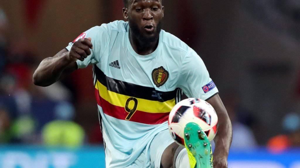 Der Belgier Romelu Lukaku steht auf der Wunschliste von Manchester United ganz oben