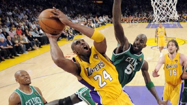 Kobe Bryant in Aktion: Fünfmal gewann er mit den Lakers den Titel.