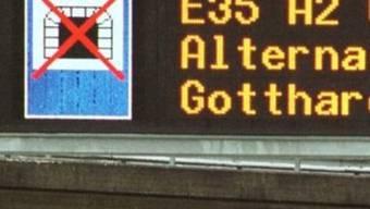 Der Gotthardtunnel musste nach einem Unfall gesperrt werden (Symbolbild)