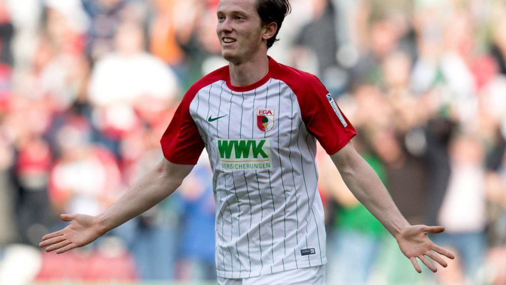 Augsburgs Michael Gregoritsch schoss auswärts gegen Bremen zwei Treffer