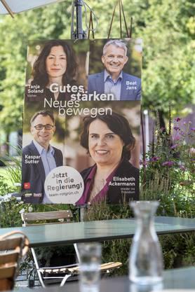 Medienkonferenz der Gruenen Basel-Stadt und der SP Basel-Stadt zum Auftakt der gemeinsamen Kampagne zu den Regierungswahlen.