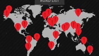 Die interaktive Karte zeigt die 22 gefährlichsten Strassen der Welt.