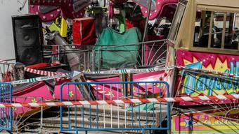 Bild der Zerstörung im andalusischen San José de La Rinconada nach dem Karussell-Unfall mit 28 Verletzten.