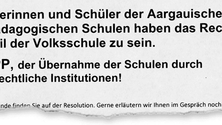 Mit dieser Resolution geht der alv gegen eine Privatisierung der HPS vor. ho