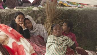 Obdachlose nach dem schweren Erdbeben in Nepal.