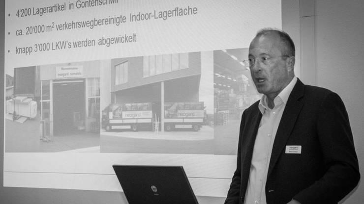 Martin Kaspar, Geschäftsführer der Neogard AG stellt seine Firma vor.