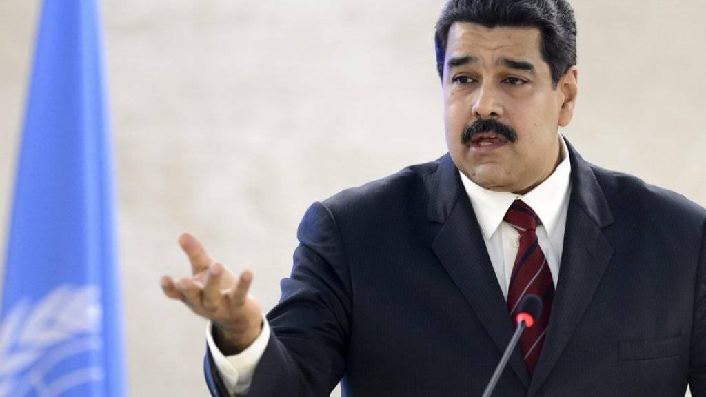 Venezuelas Staatschef Nicolás Maduro am Donnerstag vor dem UNO-Menschenrechtsrat in Genf.