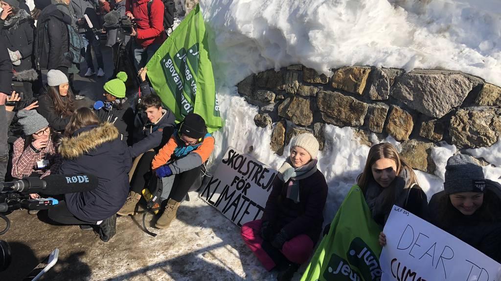 Greta Thunberg streikt auch am WEF in Davos