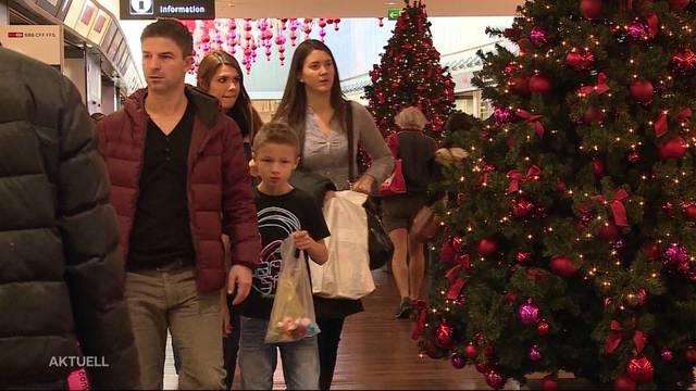Weihnachtseinkäufe nach hinten verschoben