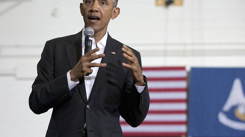 Bei einem Wählertreffen in Louisiana stellte Barack Obama klar, dass seine Gattin niemals für sein Amt kandidieren würde.