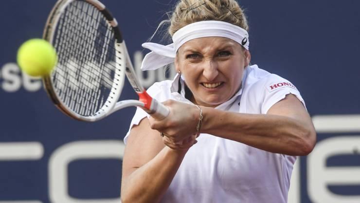 Timea Bacsinszky - im Bild während des Turniers in Lugano - steht in Rabat in der 2. Runde