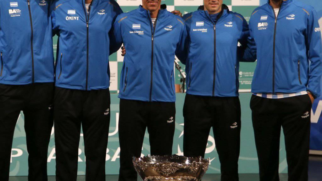 Argentinien verlor bislang all seine vier Davis-Cup-Finals. Führt Juan Martin Del Potro (links) die Südamerikaner diesmal zum Sieg?