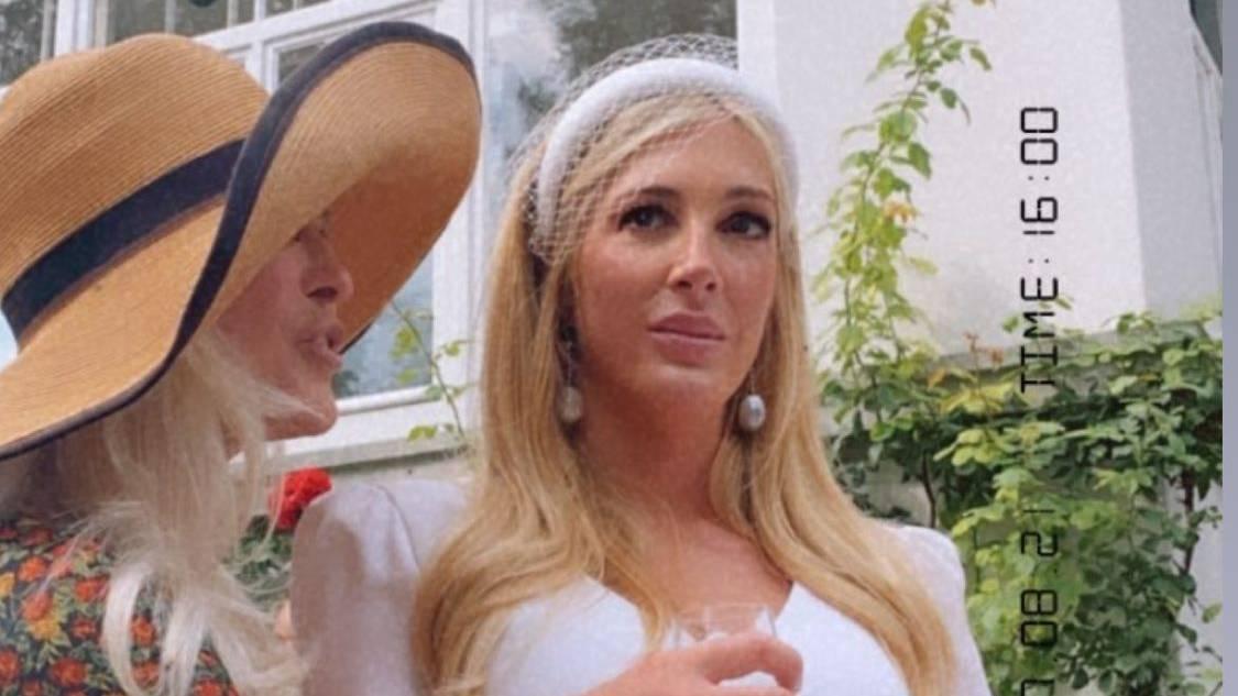 Bei Alana gab es am Hochzeitstag einige Tränen.