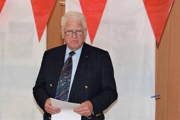 Verwaltungsratspräsident Otto H. Suhner blickt zurück auf die Geschichte des MZB.