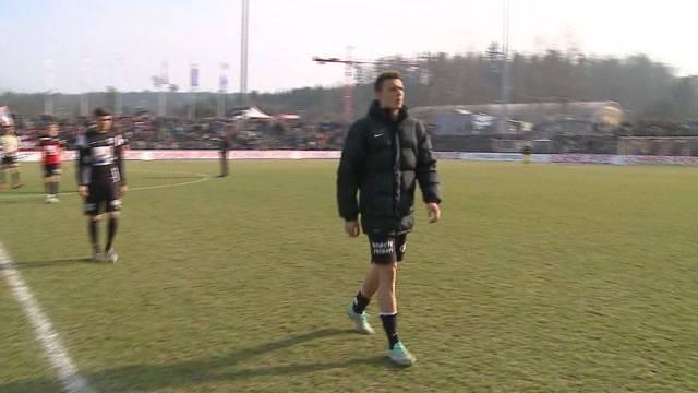 Unentschieden im Spiel des  FC Aarau gegen die Berner Young Boys