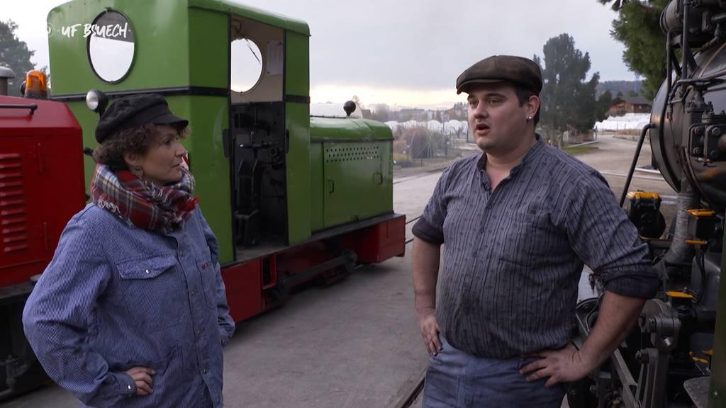 """""""Uf Bsuech"""" bei der Baumschulbahn in Schinznach-Dorf"""