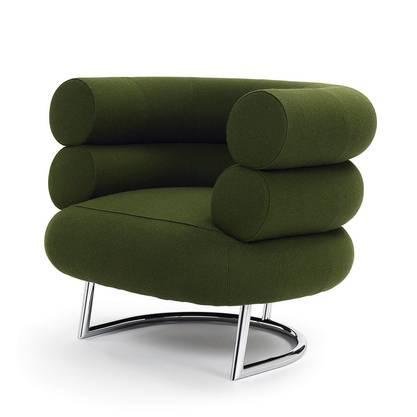 Ein Klassiker in Grün: der Bibendum-Sessel von Eileen Gray bei ClassiCon.