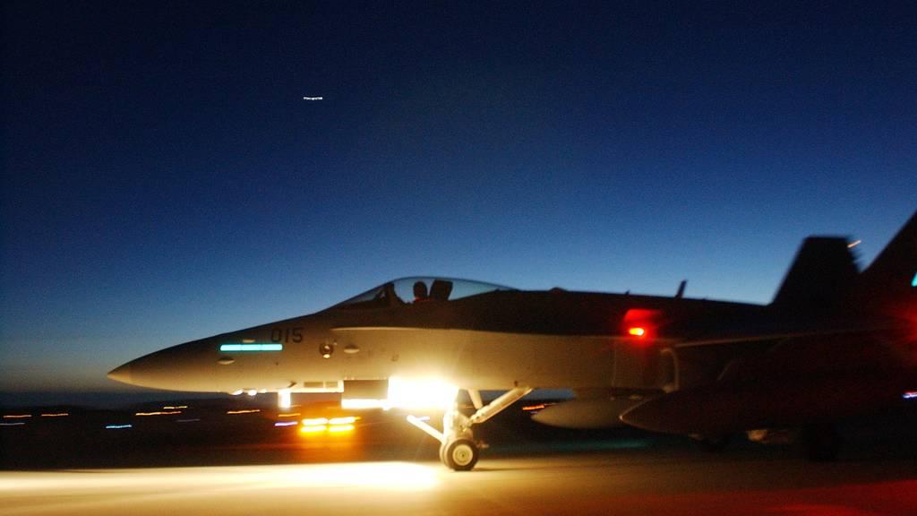Die Schweizer Luftwaffe kann jetzt auch in der Nacht