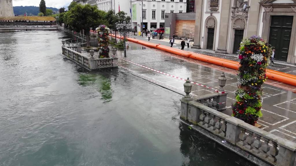 So hat das Hochwasser die Zentralschweiz im Griff