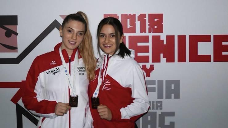 Mia Kadoic und Laura Sama in Caorle-Vendedig 2018.