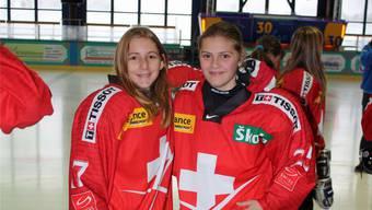 Natascha Brunner (rechts) darf mit der U18-Nati ins Trainingscamp nach Kanada.